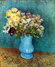 "Копия картины ""Vase with Flieder, Margerites und Anemones"" художника ""Ван Гог Винсент"""