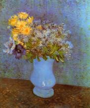 "Репродукция картины ""Vase with Lilacs, Daisies and Anemones"" художника ""Ван Гог Винсент"""