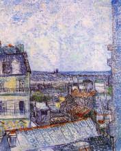 "Копия картины ""view from vincent's room in the rue lepic"" художника ""ван гог винсент"""