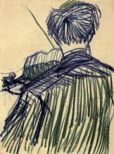 "Репродукция картины ""violinist seen from the back"" художника ""ван гог винсент"""