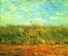"Репродукция картины ""wheat field with a lark"" художника ""ван гог винсент"""
