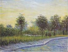 "Репродукция картины ""Way in the Voyer d'Argenson Park in Asnieres"" художника ""Ван Гог Винсент"""