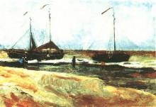 "Репродукция картины ""Beach at Scheveningen in Calm Weather"" художника ""Ван Гог Винсент"""