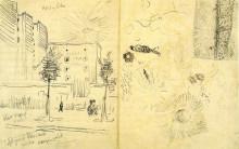 """Картина """"Apartment Blocks and Miscellaneous Studies"""" художника """"Ван Гог Винсент"""""""