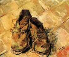 """Копия картины """"a pair of shoes"""" художника """"ван гог винсент"""""""