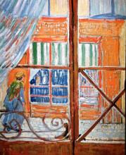 "Репродукция картины ""A Pork-Butcher's Shop Seen from a Window"" художника ""Ван Гог Винсент"""