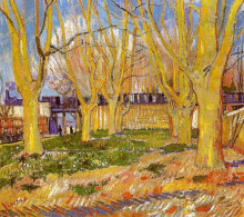 "Копия картины ""Avenue of Plane Trees near Arles Station"" художника ""Ван Гог Винсент"""