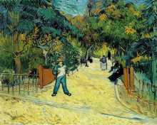 """Репродукция картины """"entrance to the public garden in arles"""" художника """"ван гог винсент"""""""