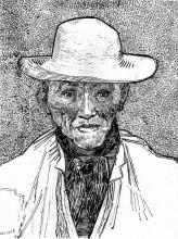 "Копия картины ""farmer with straw hat"" художника ""ван гог винсент"""