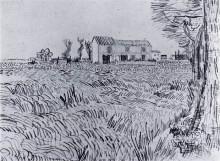"Картина ""Farmhouse in a Wheat Field"" художника ""Ван Гог Винсент"""