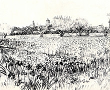 "Копия картины ""Field with Flowers"" художника ""Ван Гог Винсент"""