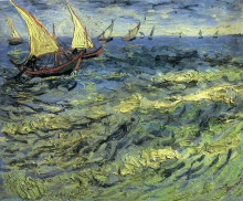 "Копия картины ""fishing boats at sea"" художника ""ван гог винсент"""