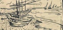 """Картина """"Fishing Boats on the Beach"""" художника """"Ван Гог Винсент"""""""