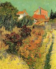 """Репродукция картины """"garden behind a house"""" художника """"ван гог винсент"""""""