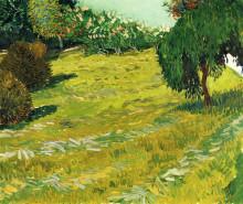 "Копия картины ""garden with weeping willow"" художника ""ван гог винсент"""