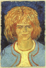 "Репродукция картины ""Girl with Ruffled Hair (The Mudlark)"" художника ""Ван Гог Винсент"""