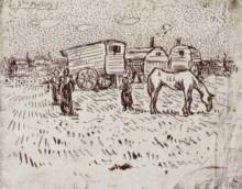 "Копия картины ""Gypsies at Saintes-Maries"" художника ""Ван Гог Винсент"""