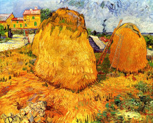 """Копия картины """"haystacks in provence"""" художника """"ван гог винсент"""""""