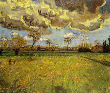 "Картина ""landscape under a stormy sky"" художника ""ван гог винсент"""