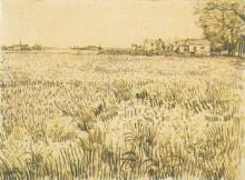 """Копия картины """"meadow with flowers"""" художника """"ван гог винсент"""""""