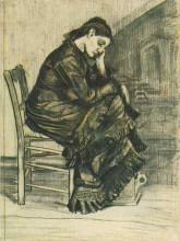 """Репродукция картины """"bent figure of a woman sien"""" художника """"ван гог винсент"""""""