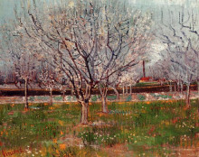 "Репродукция картины ""Orchard in Blossom (Plum Trees)"" художника ""Ван Гог Винсент"""