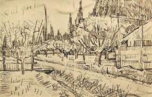 "Картина ""orchard surrounded by cypresses"" художника ""ван гог винсент"""