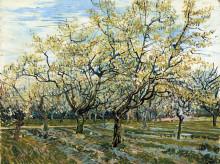 "Копия картины ""orchard with blossoming plum trees"" художника ""ван гог винсент"""