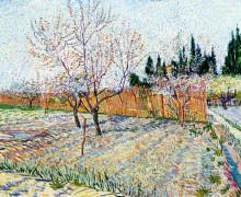 """Картина """"orchard with peach trees in blossom"""" художника """"ван гог винсент"""""""