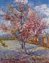 "Картина ""peach tree in bloom (in memory of mauve)"" художника ""ван гог винсент"""