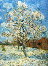 "Копия картины ""peach trees in blossom"" художника ""ван гог винсент"""