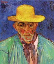 "Картина ""portrait of patience escalier, shepherd in provence"" художника ""ван гог винсент"""