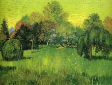 """Картина """"Public Park with Weeping Willow The Poet s Garden I"""" художника """"Ван Гог Винсент"""""""