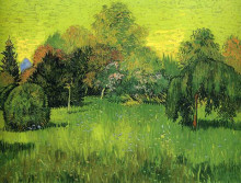 "Репродукция картины ""Public Park with Weeping Willow The Poet s Garden I"" художника ""Ван Гог Винсент"""