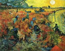 """Репродукция картины """"red vineyards at arles"""" художника """"ван гог винсент"""""""