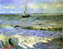"Копия картины ""seascape at saintes-maries"" художника ""ван гог винсент"""