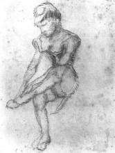 "Копия картины ""sketch of a seated woman"" художника ""ван гог винсент"""
