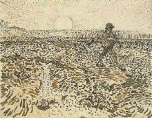 "Копия картины ""sower with setting sun"" художника ""ван гог винсент"""
