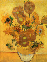 "Картина ""still life - vase with fifteen sunflowers"" художника ""ван гог винсент"""