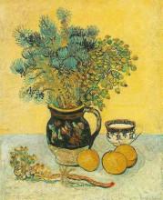 "Репродукция картины ""still life majolica jug with wildflowers"" художника ""ван гог винсент"""