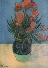 "Репродукция картины ""Still Life Vase with Oleanders"" художника ""Ван Гог Винсент"""