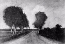 "Картина ""Country Lane with Trees"" художника ""Ван Гог Винсент"""