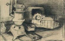 """Копия картины """"cradle"""" художника """"ван гог винсент"""""""