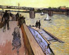 "Копия картины ""the bridge at trinquetaille"" художника ""ван гог винсент"""