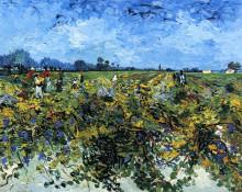 """Копия картины """"the green vinyard"""" художника """"ван гог винсент"""""""