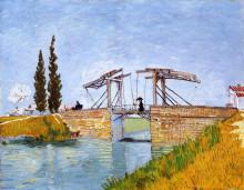 """Репродукция картины """"the langlois bridge"""" художника """"ван гог винсент"""""""