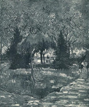 "Репродукция картины ""the park at arles with the entrance seen through the trees"" художника ""ван гог винсент"""