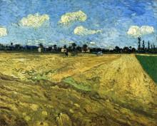 "Репродукция картины ""The Ploughed Field"" художника ""Ван Гог Винсент"""