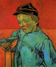 "Копия картины ""the schoolboy (camille roulin)"" художника ""ван гог винсент"""