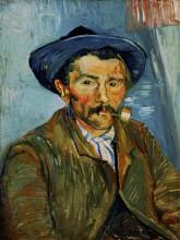 """Репродукция картины """"the smoker (peasant)"""" художника """"ван гог винсент"""""""